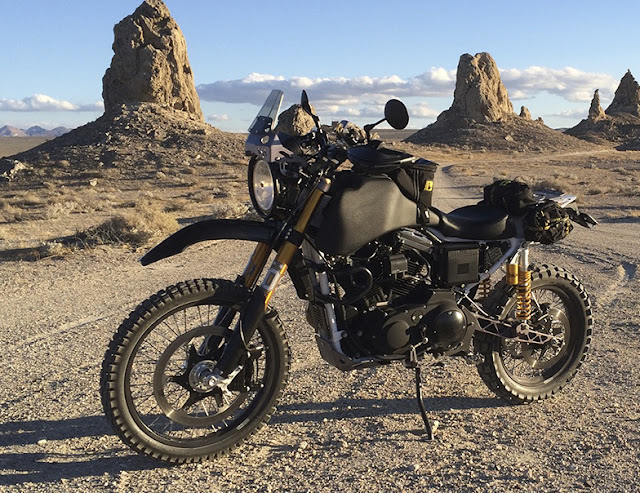 Matte black Carducci Dual Sport adventure motorcycle.
