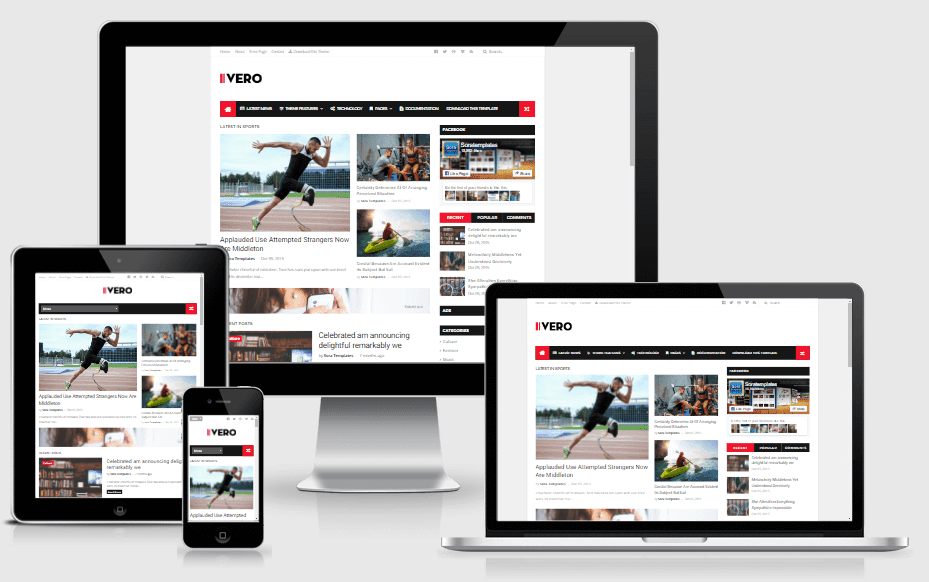Download IVERO Responsive Minimal Blogger Template