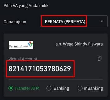 Nomor Rekening Deposit