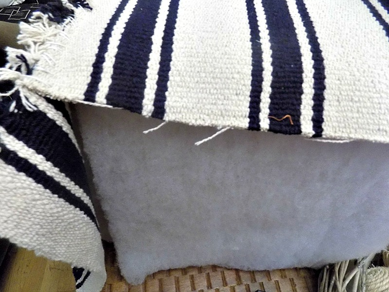 IKEA hack with small rugs