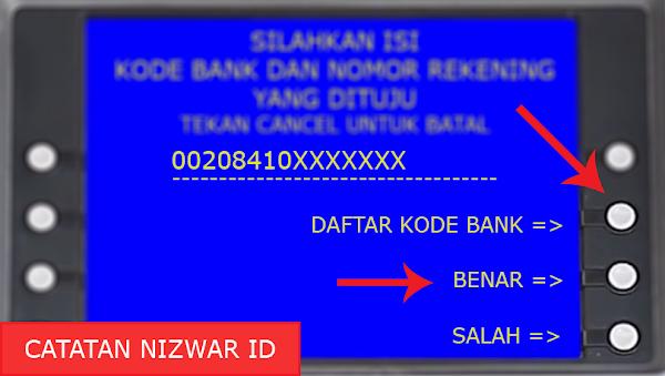 Memasukan Kode dan No Rekening Bank BPD Kalbar - Catatan Nizwar ID