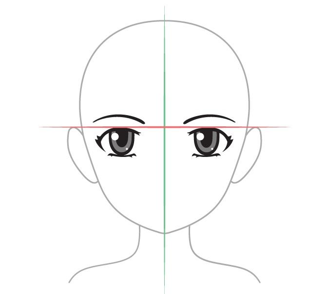menggambar mata di anime