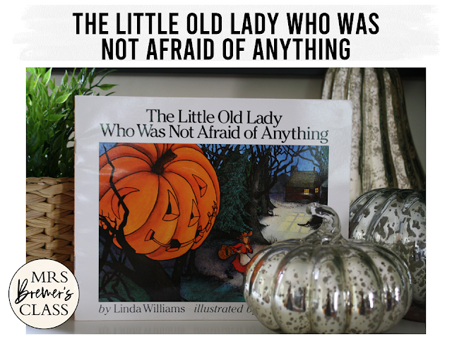The Little Old Lady Who Was Not Afraid of Anything book study companion activities Halloween