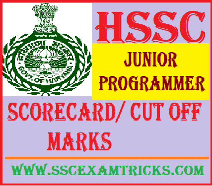 HSSC Junior Programmer Scorecard/ Cut off Marks
