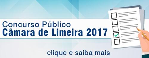 Concurso Câmara de Limeira SP 2017