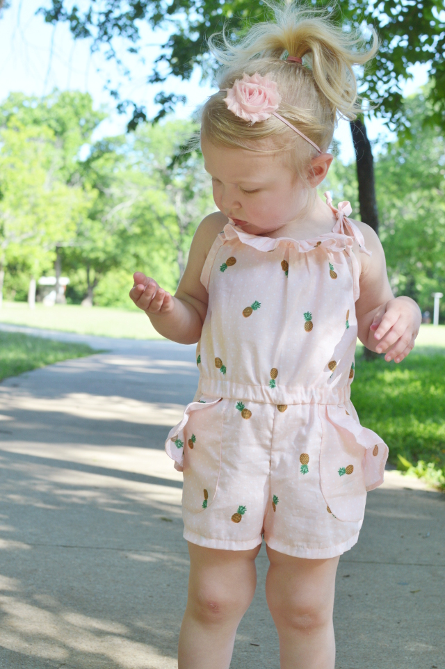 Pineapple Print Toddler Romper