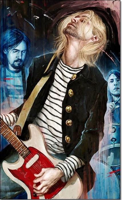 Black And White Iphone Wallpaper The Heaven Of Kurt Cobain Kurt Cobain Cartoon