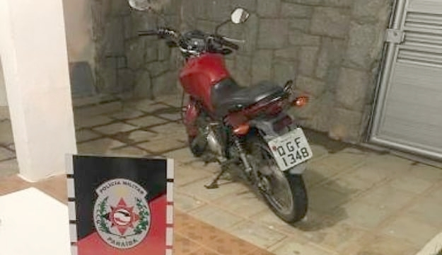 Polícia recupera moto que foi roubada próximo a São Mamede PB