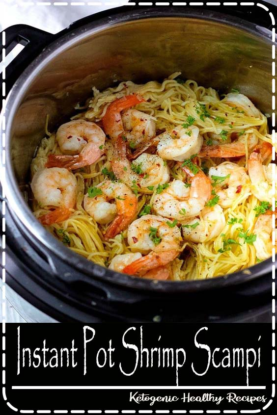 Your favorite Shrimp Scampi Pasta done in 3-minutes in an Instant Pot!