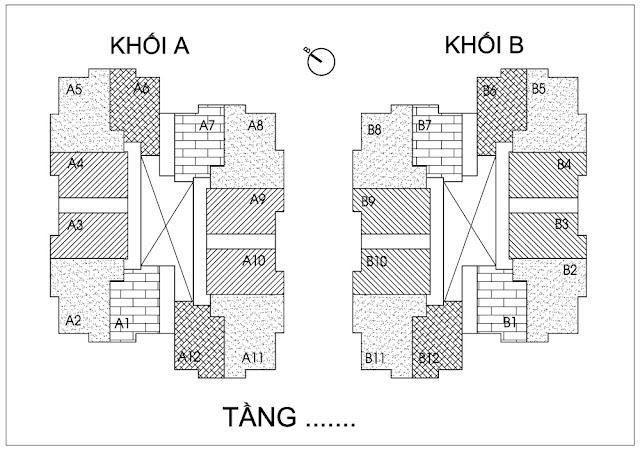 Mặt bằng tổng thể 2 tòa tháp chung cư Thống Nhất Complex