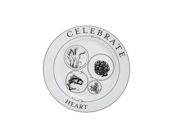 """Livliga's Celebrate Dinner Plate """"Nourish Your Heart"""""""