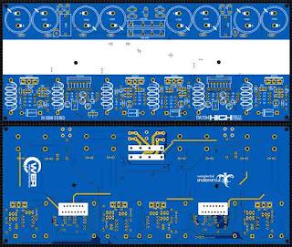 PCB TDA7294 + Stepper High Efficient Amplifier