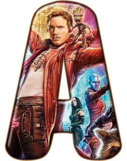 Abecedario de los Guardianes de la Galaxia. Guardians of the Galaxy Alphabet.