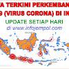 UPDATE HARI INI - PERKEMBANGAN COVID-19 (VIRUS CORONA) DI INDONESIA DAN TIAP PROVINSI