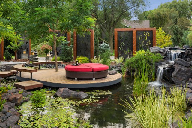 Bali style villa garden design case