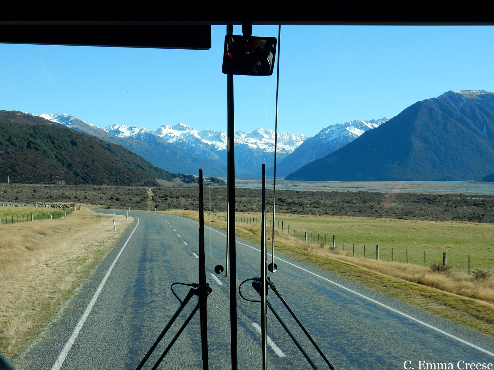 Tranzalpine journey from Christchurch to Greymouth.