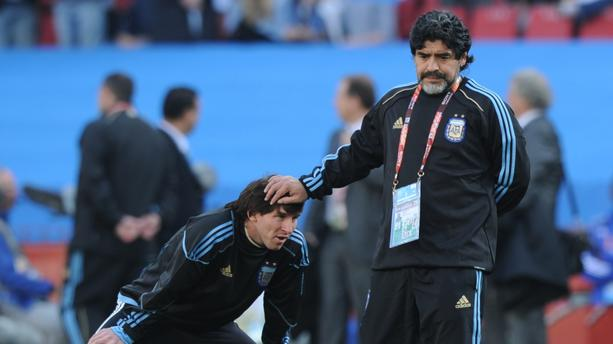 """Maradona parlant de Lionel Messi: """"Je lui ai appris comment tirer..."""""""