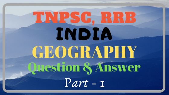 India Geography important study material part 1