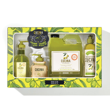 Cucina Coriander and Olive Tree Deluxe Gift Set