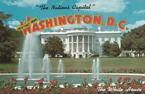 White House Vintage Postcard DC