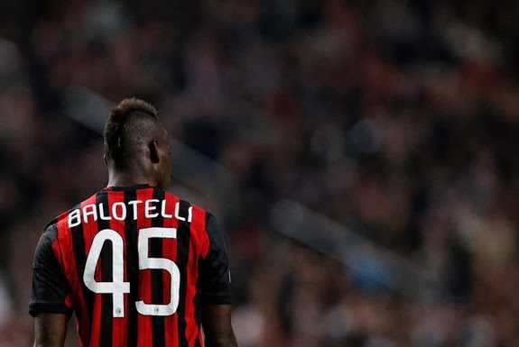 Mario Balotelli has scored only three goals in eight Serie A games so far this season