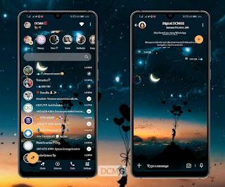 Beautiful Night Theme For Fouad WhatsApp & YOWhatsApp