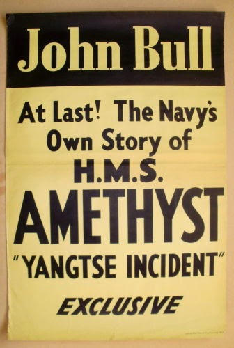 JOHN BULL magazine, advertisement for Yangtse Incident