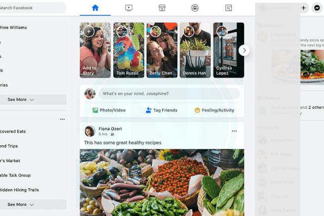 كيفية تفعيل الشكل الجديد للفيس بوك على الكمبيوترللمتصفح