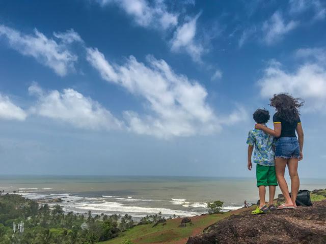 goa family charpora fort trek hike