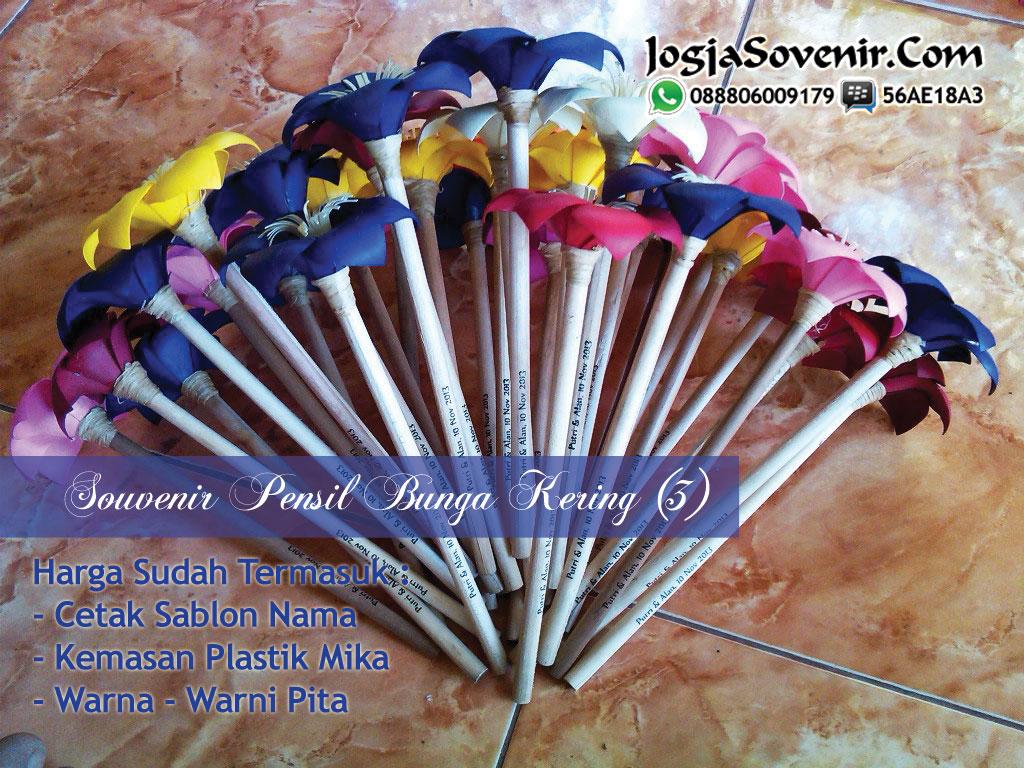 Jual Souvenir Pensil Bunga Kering