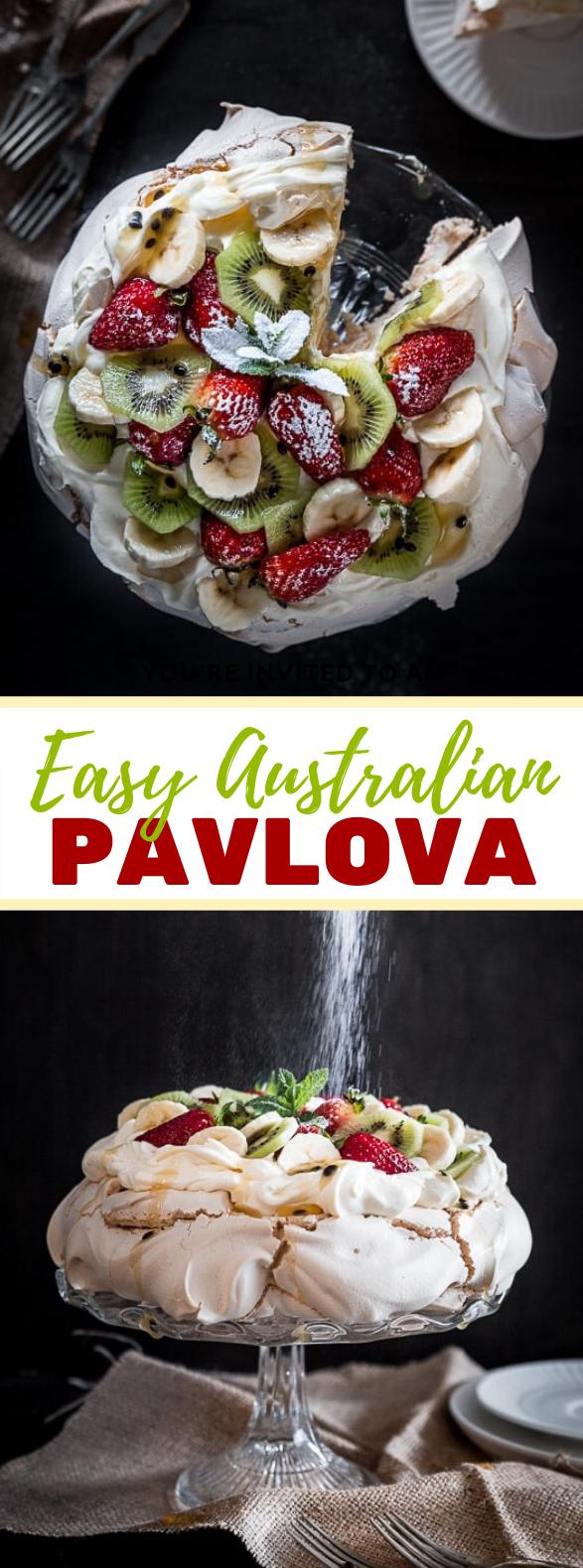 Easy Australian Pavlova Recipe #cake #fruit