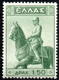 Greece. Statue of King Constantine on Horse Year : 1938
