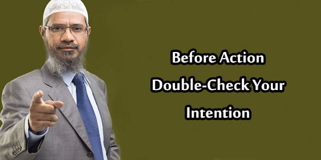 Before Action, Double-Check Your Intention