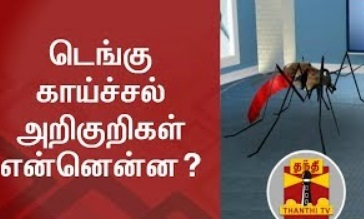 SPECIAL NEWS   Symptoms of Dengue and How to prevent it?   Thanthi Tv