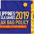 SEA Games 2019 Guide: Only Transparent Bags Allowed