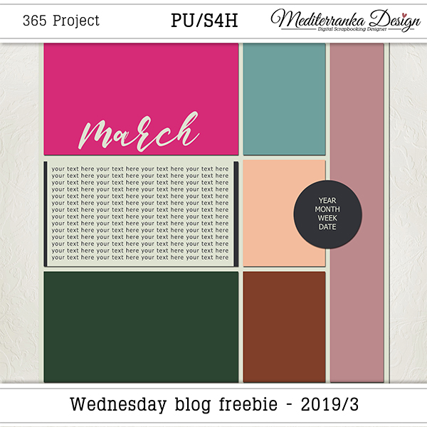 WEDNESDAY BLOG FREEBIE - 2019/03