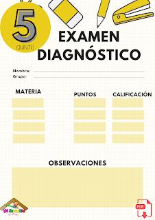 Examen diagnóstico quinto grado primaria pdf