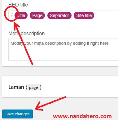 tutorial memasang centang di depan judul postingan blog
