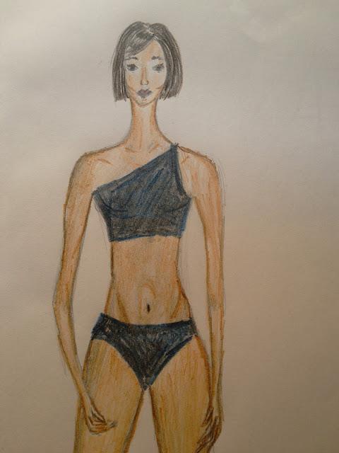 #modnailustracija #kupaći #bojice
