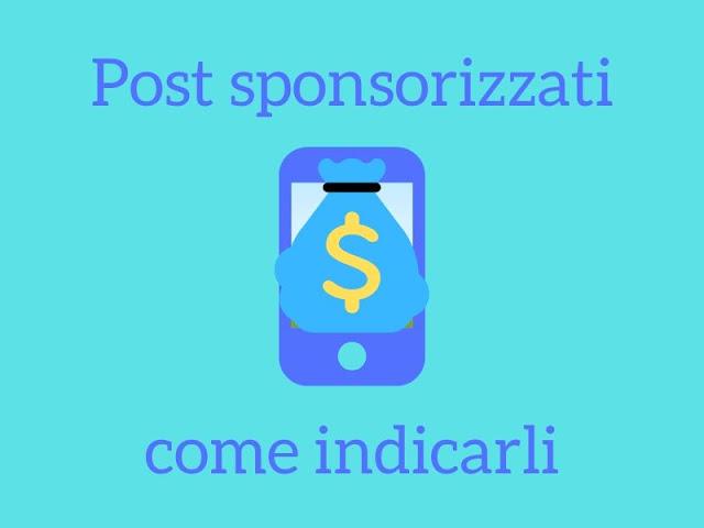 Come indicare post sponsorizzati