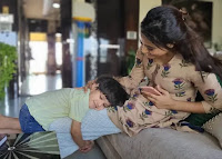 Shweta tiwari with his Son Reyansh Kohli