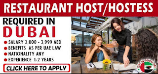 Requirement Restaurant Hostess Jobs vacancy in Rock & Up Investment LLC Location Dubai