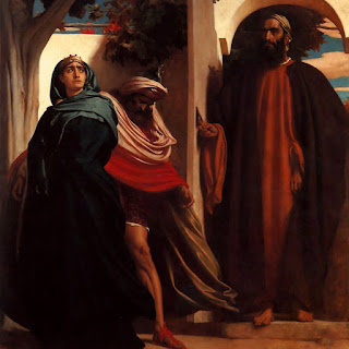 Езавел и Ахав – Фредерик Лейтън, 1863 г.