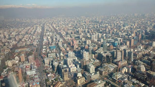Vistas desde Edificio Costanera, Santiago de Chile