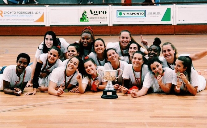 Benfica Campeão Nacional de Voleibol Feminino 3ª divisão 2018/19