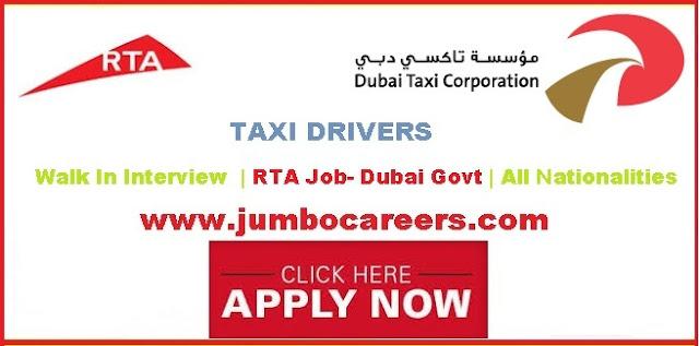 Dubai RTA Driver Jobs April 2018