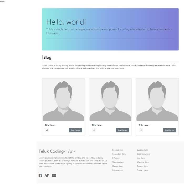 Membuat Blog dengan Laravel & VueJS - #17 | Homepage