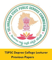 TSPSC Degree College Lecturer Previous Papers