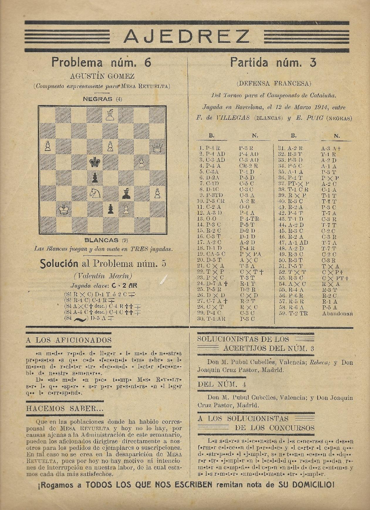 Revista Mesa Revuelta, número 6, 8 de agosto de 1915