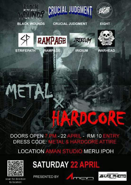 metal x hardcore underground gig 22 april